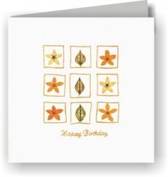 Grußkarten 2er-Set - 9 Blüten - Happy Birthday