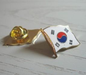 Flaggen-Pin (geschwungen): Südkorea