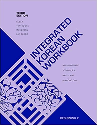 Integrated Korean: Beginning 2 Workbook (Third Edition)