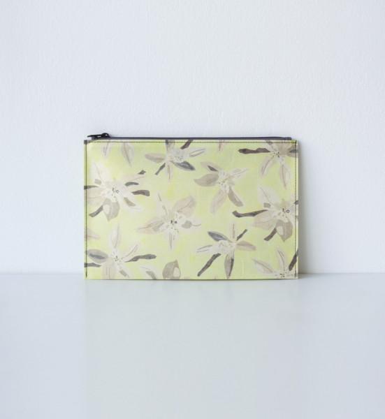 Hanji-Papiertasche Stiftetasche Kosmetiktasche – Gelb/Vanille 23x15cm