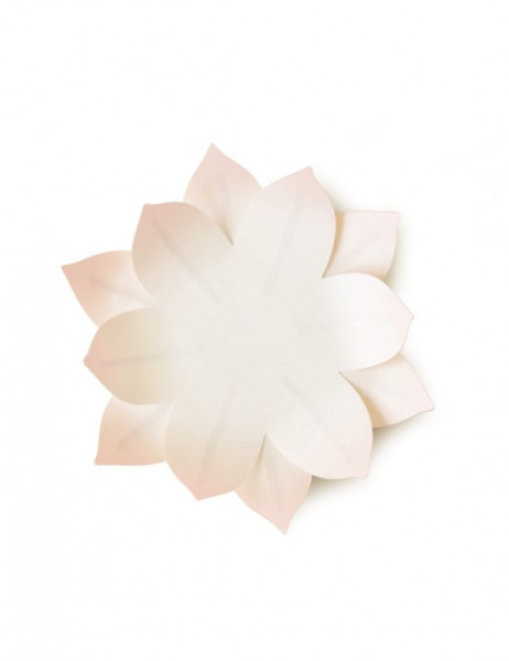 Flexible Hanji-Papierschale Wasserlilie Blassrosa 20x20cm