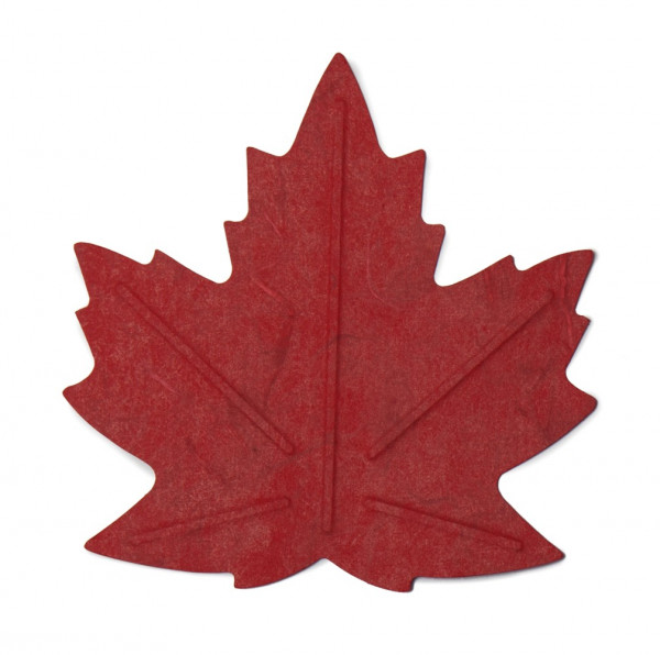 Flexible Hanji Paper Tray Maple Leave Red 20x20cm