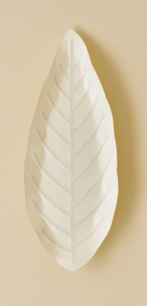 Flexible Hanji Paper Tray Leave ivory 30x12cm