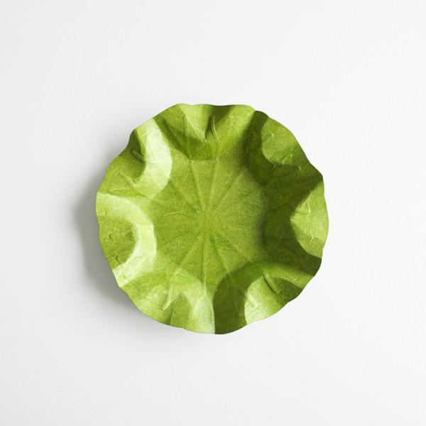 Flexible Hanji-Papierschale Lotusblatt (S) Grün 20x20cm